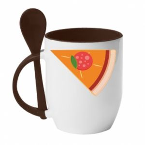 Mug with ceramic spoon Baby pizza