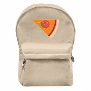 Backpack with front pocket Baby pizza - PrintSalon