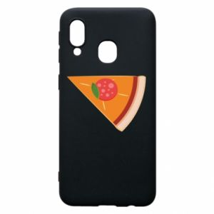 Phone case for Samsung A40 Baby pizza - PrintSalon