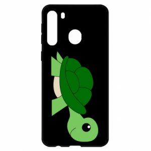 Etui na Samsung A21 Baby turtle