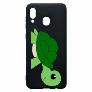 Etui na Samsung A20 Baby turtle