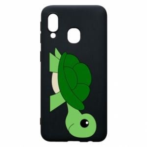 Etui na Samsung A40 Baby turtle