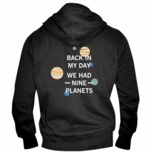 Męska bluza z kapturem na zamek Back in my day we had nine planets