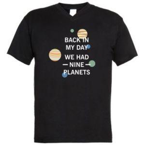 Męska koszulka V-neck Back in my day we had nine planets