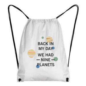 Plecak-worek Back in my day we had nine planets