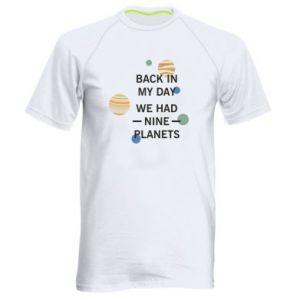 Męska koszulka sportowa Back in my day we had nine planets