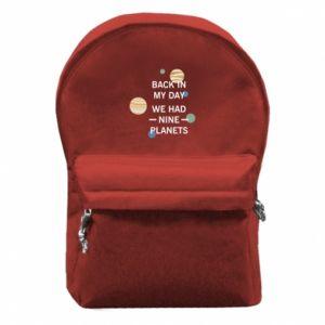 Plecak z przednią kieszenią Back in my day we had nine planets
