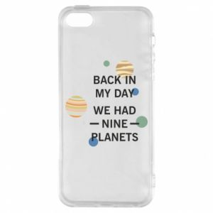 Etui na iPhone 5/5S/SE Back in my day we had nine planets