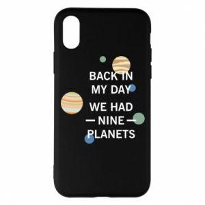 Etui na iPhone X/Xs Back in my day we had nine planets