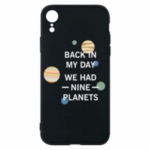 Etui na iPhone XR Back in my day we had nine planets