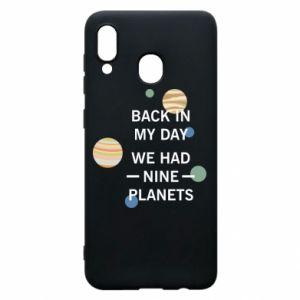 Etui na Samsung A20 Back in my day we had nine planets