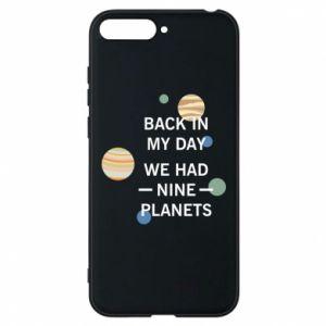 Etui na Huawei Y6 2018 Back in my day we had nine planets