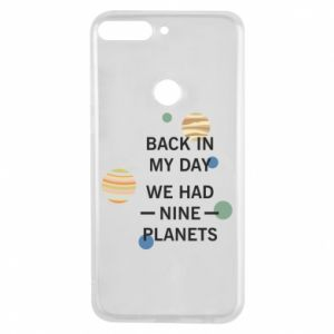 Etui na Huawei Y7 Prime 2018 Back in my day we had nine planets