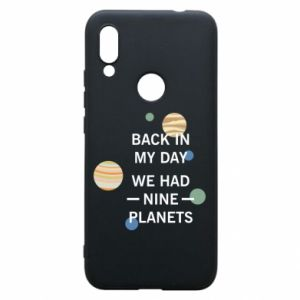 Etui na Xiaomi Redmi 7 Back in my day we had nine planets