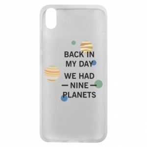 Etui na Xiaomi Redmi 7A Back in my day we had nine planets