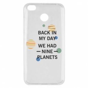 Xiaomi Redmi 4X Case Back in my day we had nine planets
