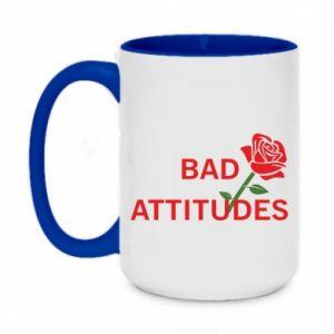 Kubek dwukolorowy 450ml Bad attitudes