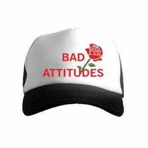 Czapka trucker dziecięca Bad attitudes