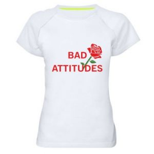 Koszulka sportowa damska Bad attitudes