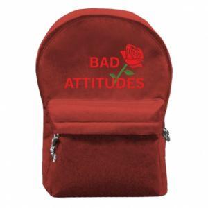 Plecak z przednią kieszenią Bad attitudes