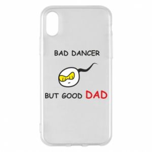 Etui na iPhone X/Xs Bad dancer but good dad