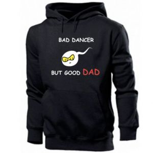 Męska bluza z kapturem Bad dancer but good dad