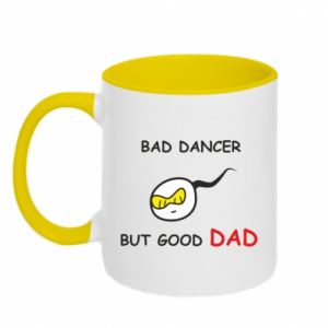 Two-toned mug Bad dancer but good dad