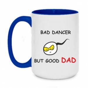 Kubek dwukolorowy 450ml Bad dancer but good dad