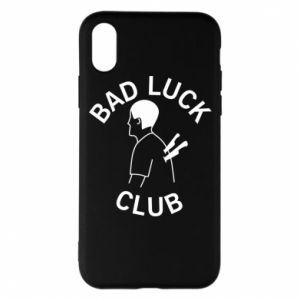 Phone case for iPhone X/Xs Bad luck club - PrintSalon