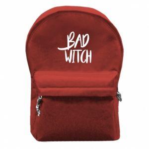 Plecak z przednią kieszenią Bad witch