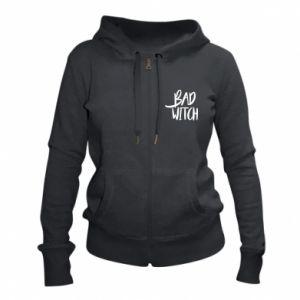 Women's zip up hoodies Bad witch - PrintSalon