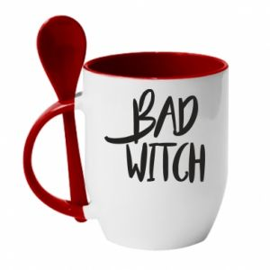 Kubek z ceramiczną łyżeczką Bad witch