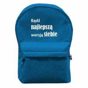 Plecak z przednią kieszenią Bądź najlepszą wersją siebie