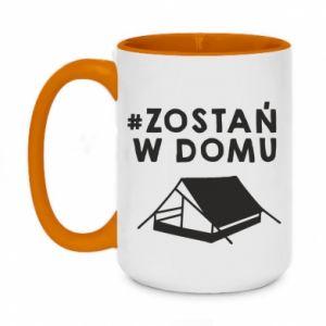 Two-toned mug 450ml Sit at home