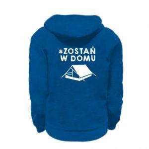 Kid's zipped hoodie % print% Sit at home