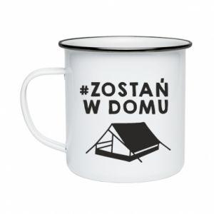 Enameled mug Sit at home