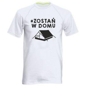 Men's sports t-shirt Sit at home