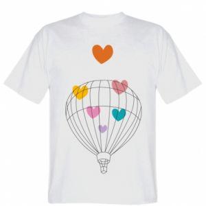 Koszulka męska Balloon flies to the hearts