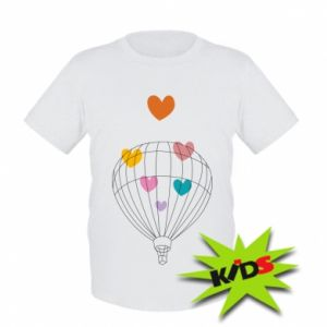 Dziecięcy T-shirt Balloon flies to the hearts