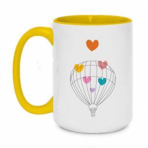 Two-toned mug 450ml Balloon flies to the hearts