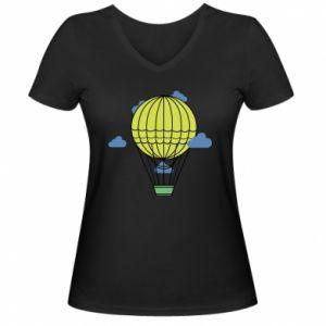 Damska koszulka V-neck Balon