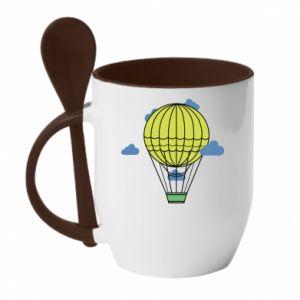 Kubek z ceramiczną łyżeczką Balon