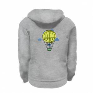Kid's zipped hoodie % print% Balloon