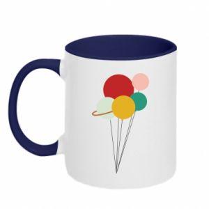 Two-toned mug Planet balloons