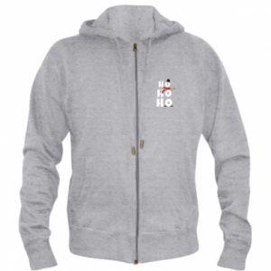 Men's zip up hoodie Snowman ho ho ho
