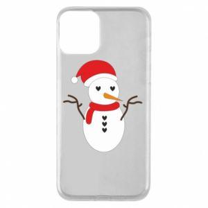 iPhone 11 Case Snowman in hat