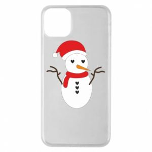 iPhone 11 Pro Max Case Snowman in hat
