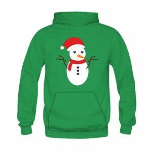 Kid's hoodie Snowman in hat