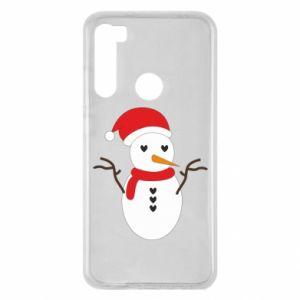 Xiaomi Redmi Note 8 Case Snowman in hat