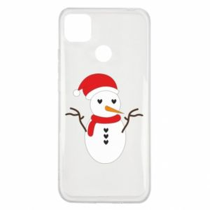 Xiaomi Redmi 9c Case Snowman in hat